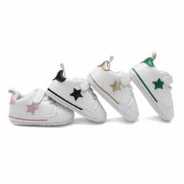 Enfants bébé baskets bébé bébé filles étoiles broderie chaussures de sport bébé doux confortable premiers marcheurs fit 0-12 M mode garçons chaussures F0820 ? partir de fabricateur