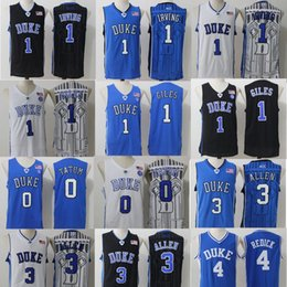 Wholesale Duke Blue - Duke Blue Devils College Jerseys 1 Kyrie Irving 1 Harry Giles 3 Grayson Allen 14 Brandon Ingram 0 Jayson Tatum 4 Redickr Stitched Jerseys