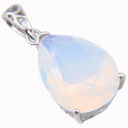 Luckyshien 12 Pcs Perle De Feu Parfait En Forme De Blanc Opale Cristal Gemmes 925 Sterling Argent USA Israël Mariage Fiançailles Colliers Pendentif Femmes ? partir de fabricateur