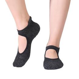 2019 балетный пол 3 пары голых подъема дышащие носки йоги женщины круглый носок противоскользящие фитнес-упражнения балетные короткие носки черные скидка балетный пол