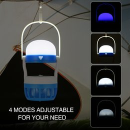 Wholesale Anti Mosquito Light - Anti Mosquito Insect Pest Bug Zapper Killer Trapping Lantern Lamp Light LED Mosquito Fly Trap Killer Catcher Light Fly Bug Lamp