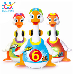 Wholesale Baby Geese - HUILE TOYS 828 Baby Toys Electric Hip Pop Dance Read & Tell Story & Interactive Swing Goose Kids Learning Educational Gifts