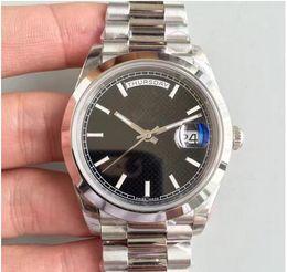 Wholesale Roman Bronze - 2018 classic style luxury men's sports watch DAYDATE 228206 Series 40MM black Roman numerals dial Sapphire 2836 high-quality movement watch