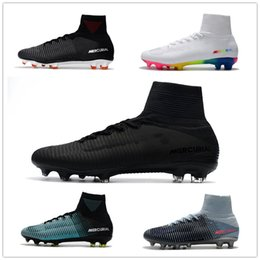 Wholesale Gold V - 2018 Mercurial Superfly V Ronalro FG CR7 Cristiano Ronaldo Men Football Boots Soccer Boots Men Soccer Shoes