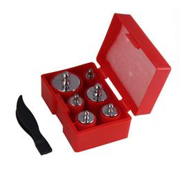 Wholesale weight calibration - 6pcs Balance Calibration Scale Weight Set Kit Silver