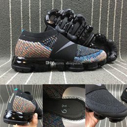 Wholesale Fashion Knit Fabrics - 2017 new Lab vapormax fly fashion casual shoes black men women high quality knit Vapormax Lightweight Walking moc sneaker Size Eur36-45