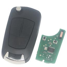 opel astra chaves Desconto Nova Chegada Opel Flip Remoto Chave KYDZ 2 botão com 7941 chip 433 MHZ para Opel Vectra C Astra H