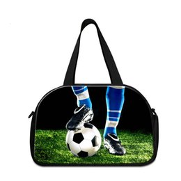 Wholesale Names Shops - High Quality Travel Pouch for Gym Football Printed on Shoulder Journey Bag Name Brand Duffel Bags for Drop Shopping Side Bags for Traveling