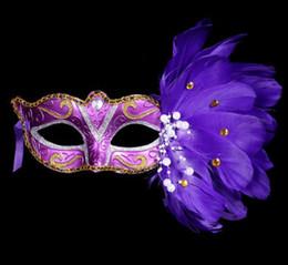 Accesorios de discoteca online-Sexy Lady Mask Eye Mask Nightclub Fashion Colorful Feather Party Máscaras Accesorios Para fiesta de disfraces Fiesta de Halloween Fancy Drop shipping