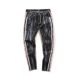 Wholesale Cotton Twill Pants - Men's 2018 Spring Summer Return Camouflage jeans Male Patchwork Color Block Camo Cargo Fashion Ankle-Length Cotton Pants