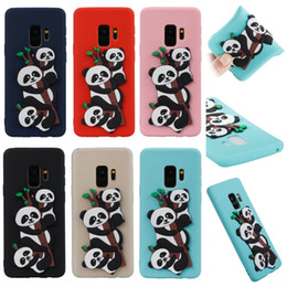 2018 per Samsung Galaxy S8 S7 S9 più iPhone 7 8 X Cute 3D Cartoon Panda Cat Owl Dog Soft Tpu Custodia in silicone per la pelle da iphone 3d casi di cane fornitori