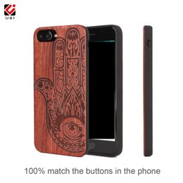 Wholesale Wood Iphone Bumper - Rose wood phone case universal for iPhone 6 6s s 7 8,Madeira telefone bumper luxury brand back cover for Apple i Phone