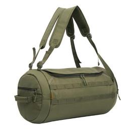 54d37fecd3 Camouflage Duffel Cylinder Bag Canvas Travel Backpack Rucksack Men Outdoor  Gym Hiking Camping Yoga Luggage Weekender Shoulder Bag