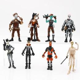 8 Style Fortnite Plastic Doll toys 2018 New kids 10cm Cartoon game fortnite llama skeleton role Figure Toy