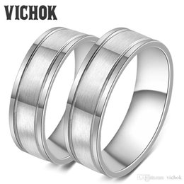 Wholesale Vintage Settings For Engagement Rings - 316L Stainless Steel Rings For Lover Women Men Fine Ring Jewelry Party Engagement Jewelry Sets Accessories Vintage Ring Bands VICHOK