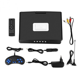 Wholesale Player Car Games - Portable 9.8 inch LCD Screen HD DVD Player Support Game Car TV Player FM Radio Receiver SD   MS   MMC Card with US  EU  UK Plug