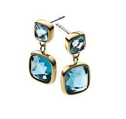 Wholesale hoop crystal earings - New York Fashion M*K LOGO drop Earrings Tone hoop Earings famous brand luxury jewelry for women