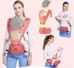 Wholesale Kangaroo Sling - Breathable Ergonomic Carrier Backpack Portable Infant Baby Carrier Kangaroo Hipseat Heaps With Sucks Pad Baby Sling Carrier Wrap