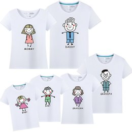 shirt for mother daughter Coupons - 2018 New Short Sleeve T-shirt For Mother And Daughter Cotton Women Shirt Girls Clothes Lovely Family Matching clothes Shirt