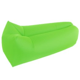 Wholesale chair 15 - 10 colors Couch Potato Sleeping Bag Lazy Inflatable Beanbag Sofa Chair Living Room Bean Bag Cushion Outdoor Self Inflated Beanbag Furniture