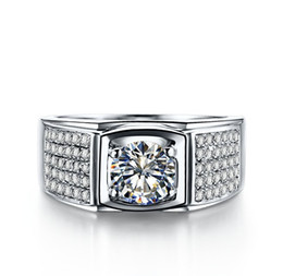 Wholesale Indian Jewellery Free Shipping - choucong Valuable Jewellery Antique Men's 925 Silver Round Cut 5A Zircon stone Wedding Ring Sz 7-13 Free shipping gift