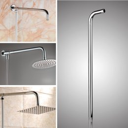Wholesale Shower Head For Wall - 24inch Wall Mounted Stainless Steel Shower Extension Arm For Rainfall Shower Head Arms Bathroom Tools Accessories
