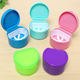 Wholesale Plastic Round Tray - Dental Box Denture Teeth Storage Case Mouth guard Container Tray Fit For Collection Storage Boxes