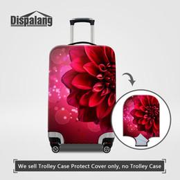 Viaggio su bagaglio su strada Proteggi copertura Colorful Rose Floral Printing Elastico portatile Stretch 18-30 pollici Valigie Copertine Polvere Accessorio da viaggio da anelli in ottone ovale fornitori