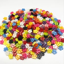 Wholesale Snowflake Buttons - 500pcs Mixed 6mm Mini Tiny Buttons Sewing Doll Clothes Flower Snowflake Plastic Button Embellishments Scrapbook Cardmaking