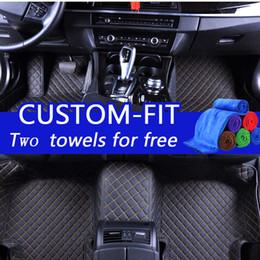 Wholesale Honda Fit Custom - Wholesale custom car floor mats for honda accord 2010 luxury 3d leather car floor mats waterproof custom fit dust-proof protects stains