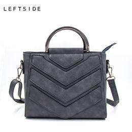 ce83712b85ea LEFTSIDE New Vintage Black PU Women Leather Handbags Designer Women  Messenger Bags Crossbody Shoulder Bag hand Totes For Ladies