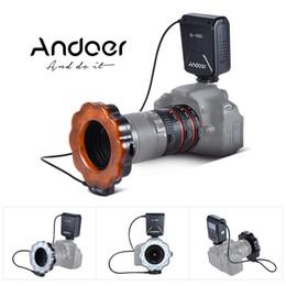 2019 макрос кольцо привело свет Andoer SL-102C GN15 Макросъемка LED кольцо вспышки заливки света + макро расширение трубки RingL автофокус для дешево макрос кольцо привело свет