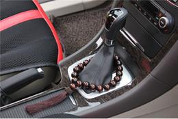 2019 contas de jacarandá 20mm Rosewood buddha pulseira Espelho Pendurado Pingente Auto Tendas Decoração enfeites de contas de buddha decoração do carro desconto contas de jacarandá