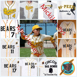 14fc6d1d2f5 Mens Custom The Bad News BEARS Jerseys stitched #3 Kelly Leak #12 Tanner  Boyle #4 #7 #13 #17 #20 The Bad News BEARS Movie Baseball Jersey S-