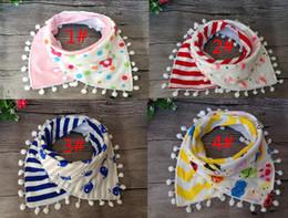 Asciugamani da principessa online-2 pezzi / set bambina principessa nappa bavaglini neonati tigrati cartone animato fenicottero mucca latte stampato bavaglini bambino 100% cotone saliva asciugamano triangolo