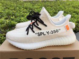 "Wholesale Golf D - OFF WH1TE X A D Originals BOOST 350 V2 OW Jogging Shoes ""SPLY-350"" Orange Label Primeknit BASF Running Shoes Kanye West Sports Shoes"