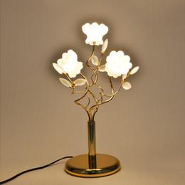 Wholesale Luxury Lamp Tables - European luxury crystal lamp wedding creative living room modern minimalist bedroom led lamp lighting fixture led table