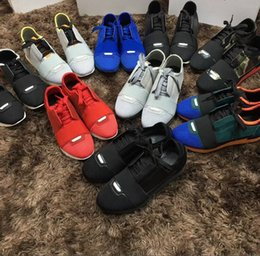 Wholesale Couple Skateboard - Wholesale Price Name Brand Race Runner Shoe Man Casual Woman Mesh Trainer Cheap Sneaker Couple Skateboard Shoe Size 35-46 With Box