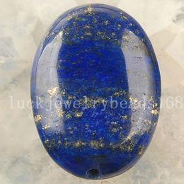 Wholesale oval lapis beads - Free shipping Jewelry 18x25mm Natural Lapis Lazuli Oval Pendant Bead SMC2951