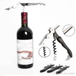Wholesale Bottle Sea - Waiter Wine Tool Bottle Opener Sea horse Corkscrew Knife Pulltap Double Hinged Corkscrew Free DHL XL-439