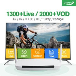 Wholesale Facebook Youtube - Android APK QHDTV VOD European IPTV Account 1 Year with panel without tv box