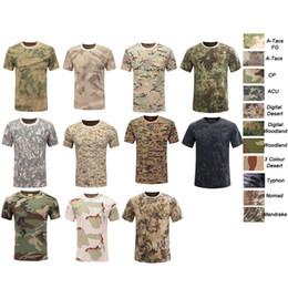 Tenue de combat en plein air dans la bataille des forêts Bataille Robe Uniforme tactique BDU Armée Combat Vêtements Coton Camouflage T-Shirt SO05-104 ? partir de fabricateur