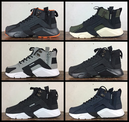 c66985a7df67 2017 Air Huarache 6 X Acronym City MID Leather Running Shoes For Men High  Quality Huaraches Mens Huraches Sport Sneakers 40-45 Free Shipping