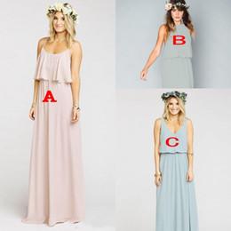 Wholesale Custom Cleaners - New Clean and Modern Lilac Long Bridesmaid Dresses Ruffles Mumu Floor Length Summer Beach Wedding Party Evening Dresses Bridesmaid Dress