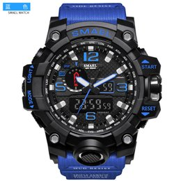 Wholesale Orange Digital Clock - Luxury Brand Mens Sports Watches LED Digital Clock Fashion Casual Watch Digital 1545 relogio militar Clock Men Sport Watch
