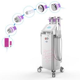 Equipo funcional online-6in1 Cavitación ultrasónica Radiofrecuencia que adelgaza la máquina láser Lipo Vacío RF Pérdida de peso CE Equipos multifuncionales