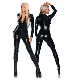 Deutschland GLAMCARE Kostüme Cosplay Fetisch Wetlook Catsuit Playsuit Sexy Punk Bodysuit Nachtclub Fetish Wear Schwarz supplier cosplay club sexy Versorgung
