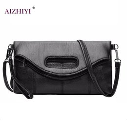 Wholesale Large Black Evening Bag - Soft Portable PU Shoulder Bag Folding Women Large Capacity Clutch Bags Evening Female Messenger Crossbody Female Top-handle Bags