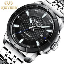 677f6fa66d8 KINYUED Relojes Hombre Mens Relógios Top Marca de Luxo 2018 Relógio De  Pulso Mecânico Homens Relógio Masculino Automático Relogios Masculinos  kinyued barato