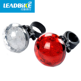 Wholesale Super Bright Waterproof Flashing Led - LEADBIKE Super Bright 5 LED Cycling Bicycle Bike Tail Light Waterproof Warning Flashing Riding Lamp Alarm Hot Sale